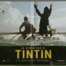 Cine: QH81 LAS AVENTURAS DE TINTIN EL SECRETO DEL UNICORNIO SPIELBERG SET 4 POSTERS ORIG ITALIANO 47X68. Lote 41285769