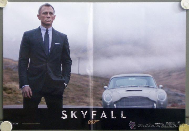 QH92 SKYFALL JAMES BOND 007 DANIEL CRAIG JAVIER BARDEM SET 6 POSTERS ORIGINAL ITALIANO 47X68 (Cine - Posters y Carteles - Acción)