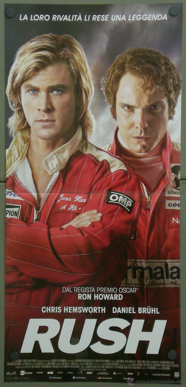 QH96 RUSH CHRIS HEMSWORTH DANIEL BRUHL AUTOMOVILISMO POSTER ORIGINAL 33X70 ITALIANO (Cine - Posters y Carteles - Deportes)