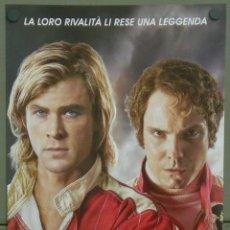Cine: QH96 RUSH CHRIS HEMSWORTH DANIEL BRUHL AUTOMOVILISMO POSTER ORIGINAL 33X70 ITALIANO. Lote 41287465