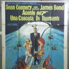Cine: QI03D DIAMANTES PARA LA ETERNIDAD JAMES BOND 007 SEAN CONNERY POSTER ORIGINAL 140X200 ITALIANO. Lote 177560165