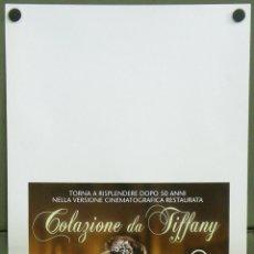 Cine: QI43 DESAYUNO CON DIAMANTES AUDREY HEPBURN POSTER ORIGINAL ITALIANO 33X70. Lote 220954438