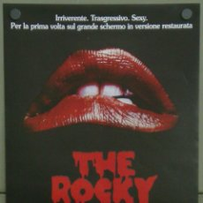 Cine: QI44 THE ROCKY HORROR PICTURE SHOW CULT POSTER ORIGINAL ITALIANO 33X70. Lote 41294113