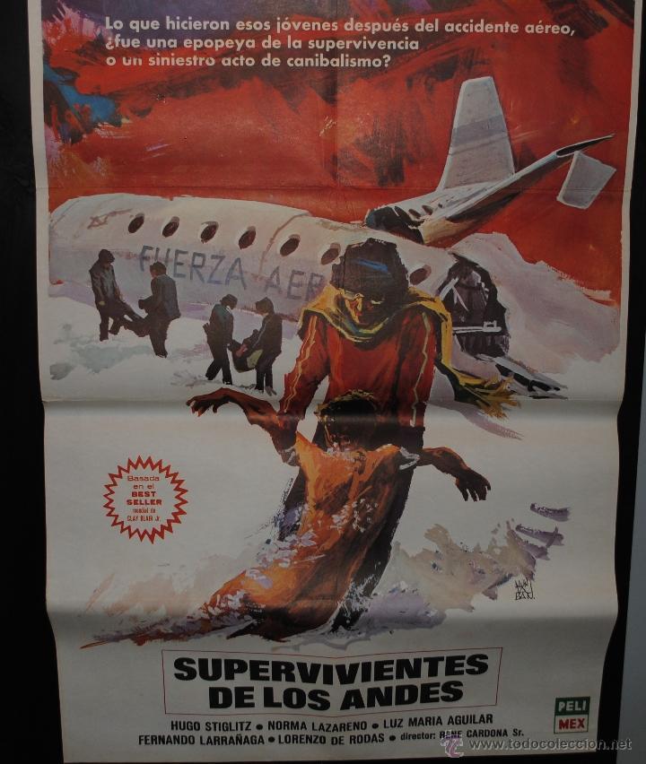 CARTEL DE CINE ORIGINAL DE LA PELÍCULA SUPERVIVIENTES DE LOS ANDES, 70 POR 100CM (Cine - Posters y Carteles - Clasico Español)
