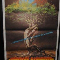 Cine: CARTEL DE CINE ORIGINAL DE LA PELÍCULA ANIMALES RACIONALES, 1982, 70 POR 100CM. Lote 41383741