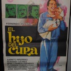 Cine: CARTEL DE CINE ORIGINAL DE LA PELÍCULA EL HIJO DEL CURA, FERNANDO ESTESO, JANO, 70 POR 100CM. Lote 41384776