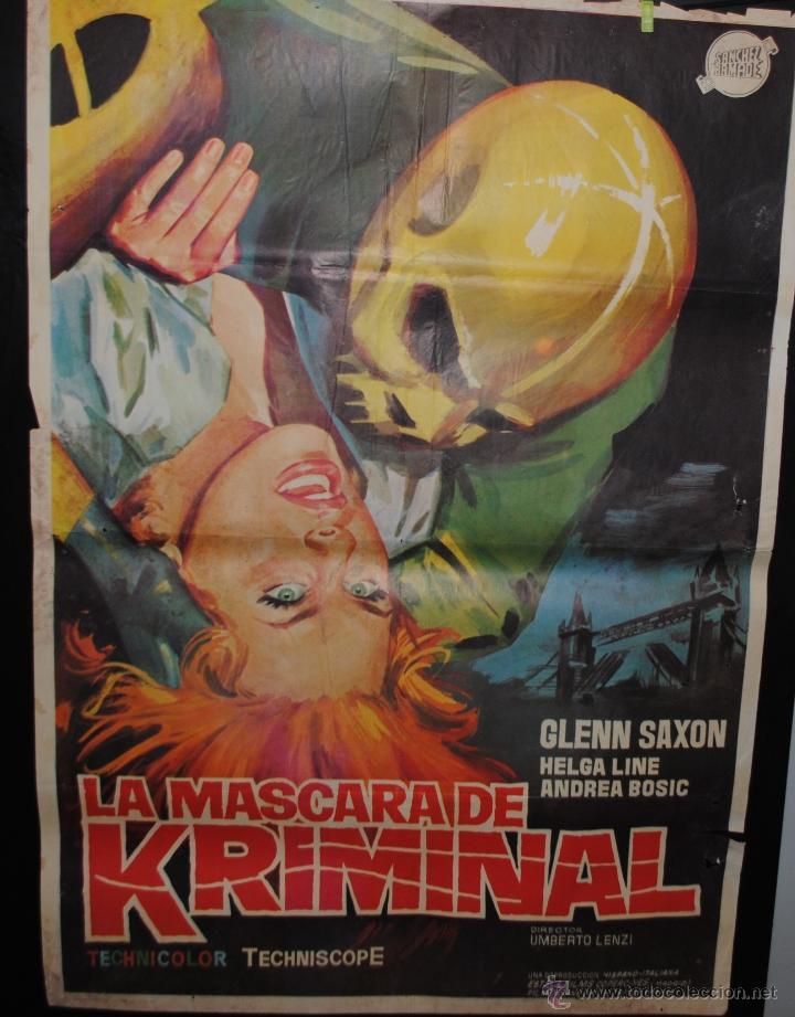CARTEL DE CINE ORIGINAL DE LA PELÍCULA LA MÁSCARA DE KRIMINAL, 70 POR 100CM (Cine - Posters y Carteles - Terror)