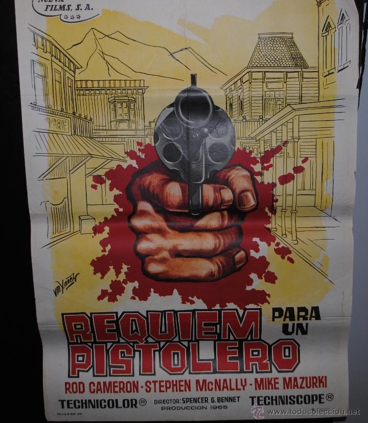 CARTEL DE CINE ORIGINAL DE LA PELÍCULA REQUIEM PARA UN PISTOLERO, 1965, 70 POR 100CM (Cine - Posters y Carteles - Westerns)