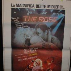 Cine: CARTEL DE CINE ORIGINAL DE LA PELÍCULA THE ROSE, LA MAGNÍFICA BETTE MIDLER, 70 POR 100CM. Lote 94955900