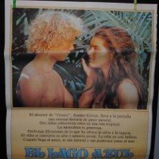 Cine: CARTEL DE CINE ORIGINAL DE LA PELÍCULA EL LAGO AZUL, 70 POR 100CM. Lote 41387273