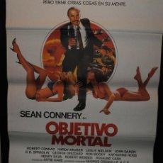Cine: CARTEL DE CINE ORIGINAL DE LA PELÍCULA OBJETIVO MORTAL, SEAN CONNERY, 70 POR 100CM. Lote 41387751
