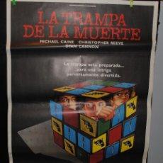 Cine: CARTEL DE CINE ORIGINAL DE LA PELÍCULA LA TRAMPA DE LA MUERTE, 70 POR 100CM. Lote 41401651