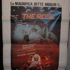 Cine: CARTEL DE CINE ORIGINAL DE LA PELÍCULA THE ROSE, LA MAGNÍFICA BETTE MIDLER, 70 POR 100CM. Lote 41402258