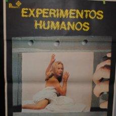 Cine: CARTEL DE CINE ORIGINAL DE LA PELÍCULA EXPERIMENTOS HUMANOS, 70 POR 100CM. Lote 41403898