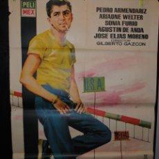 Cine: CARTEL DE CINE ORIGINAL DE LA PELÍCULA LOS DESARRAIGADOS, 70 POR 100CM. Lote 41404669