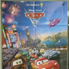 Cine: QK93 CARS 2 WALT DISNEY ANIMACION AUTOMOVILISMO 3D POSTER ORIGINAL ITALIANO 100X140. Lote 41409416