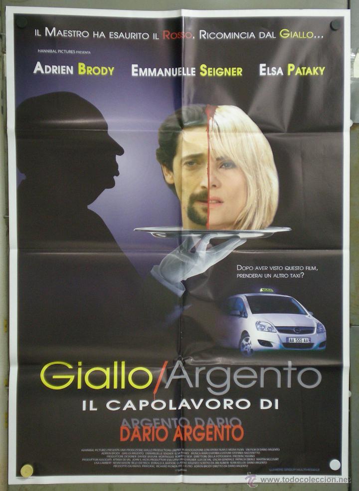 QK81 GIALLO DARIO ARGENTO ADRIEN BRODY ELSA PATAKY POSTER ORIGINAL 100X140 ITALIANO (Cine - Posters y Carteles - Terror)
