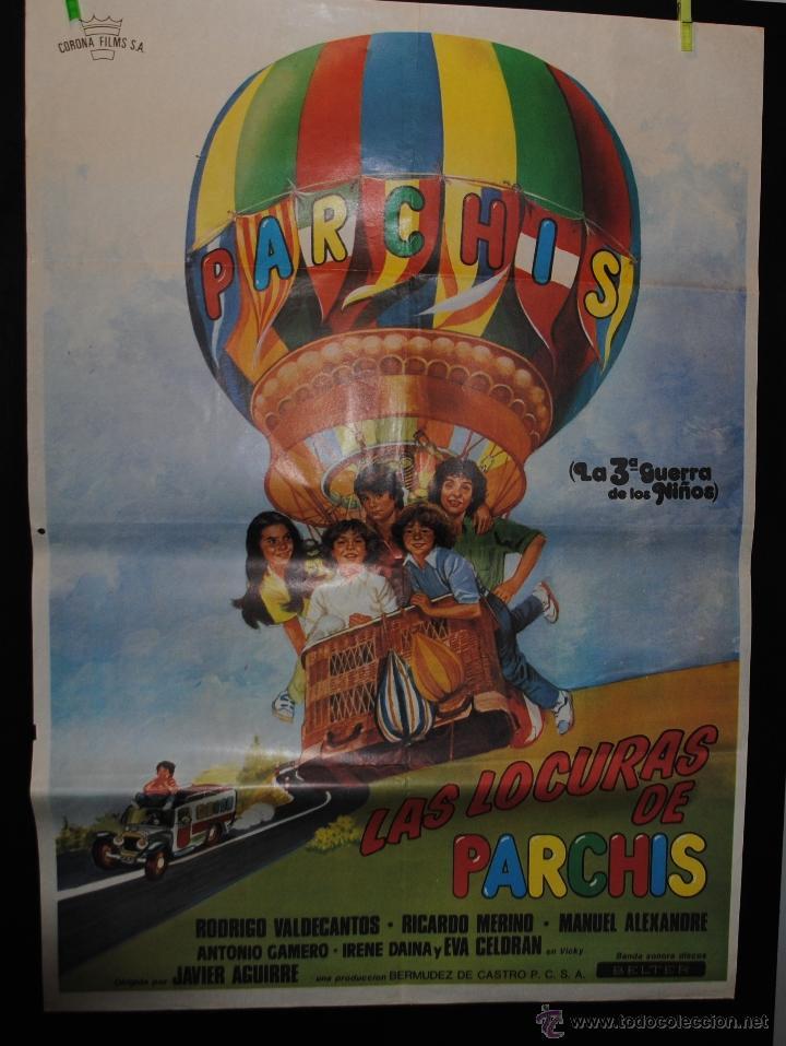 CARTEL DE CINE ORIGINAL DE LA PELÍCULA LAS LOCURAS DE PARCHIS, 70 POR 100CM (Cine - Posters y Carteles - Infantil)
