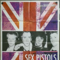Cine: QL12 THE FILTH AND THE FURY SEX PISTOLS JULIEN TEMPLE JOHNNY ROTTEN POSTER ORIGINAL 100X140 ITALIANO. Lote 41426243