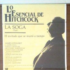 Cine: CARTEL AÑOS 80 DE LA SOGA, HITCHCOCK. Lote 41433814