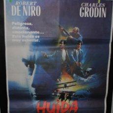 Cine: CARTEL DE CINE ORIGINAL DE LA PELÍCULA HUIDA A MEDIANOCHE, 70 POR 100. Lote 41471752
