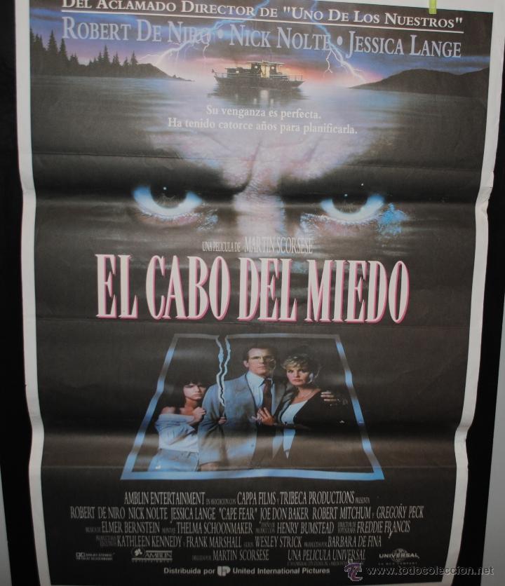 CARTEL DE CINE ORIGINAL DE LA PELÍCULA EL CABO DEL MIEDO, 70 POR 100 (Cine - Posters y Carteles - Terror)