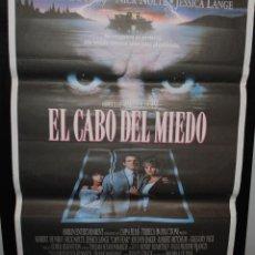 Cine: CARTEL DE CINE ORIGINAL DE LA PELÍCULA EL CABO DEL MIEDO, 70 POR 100. Lote 128830482