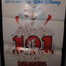 Cine: CARTEL DE CINE ORIGINAL DE LA PELÍCULA 101 DÁLMATAS, WALT DISNEY, 70 POR 100. Lote 41471781