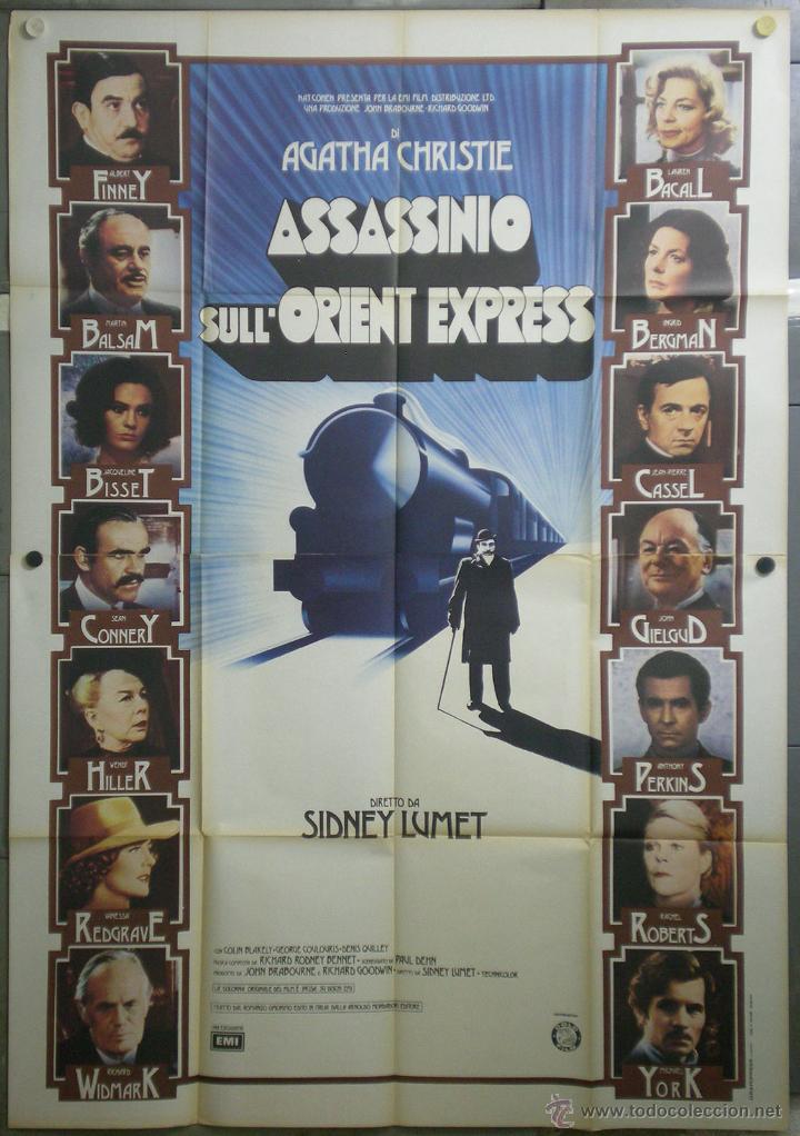 QL30 ASESINATO EN EL ORIENT EXPRESS AGATHA CHRISTIE ALBERT FINNEY POSTER ORIGINAL ITALIANO 140X200 (Cine - Posters y Carteles - Suspense)