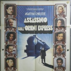 Cine: QL30 ASESINATO EN EL ORIENT EXPRESS AGATHA CHRISTIE ALBERT FINNEY POSTER ORIGINAL ITALIANO 140X200. Lote 41479520