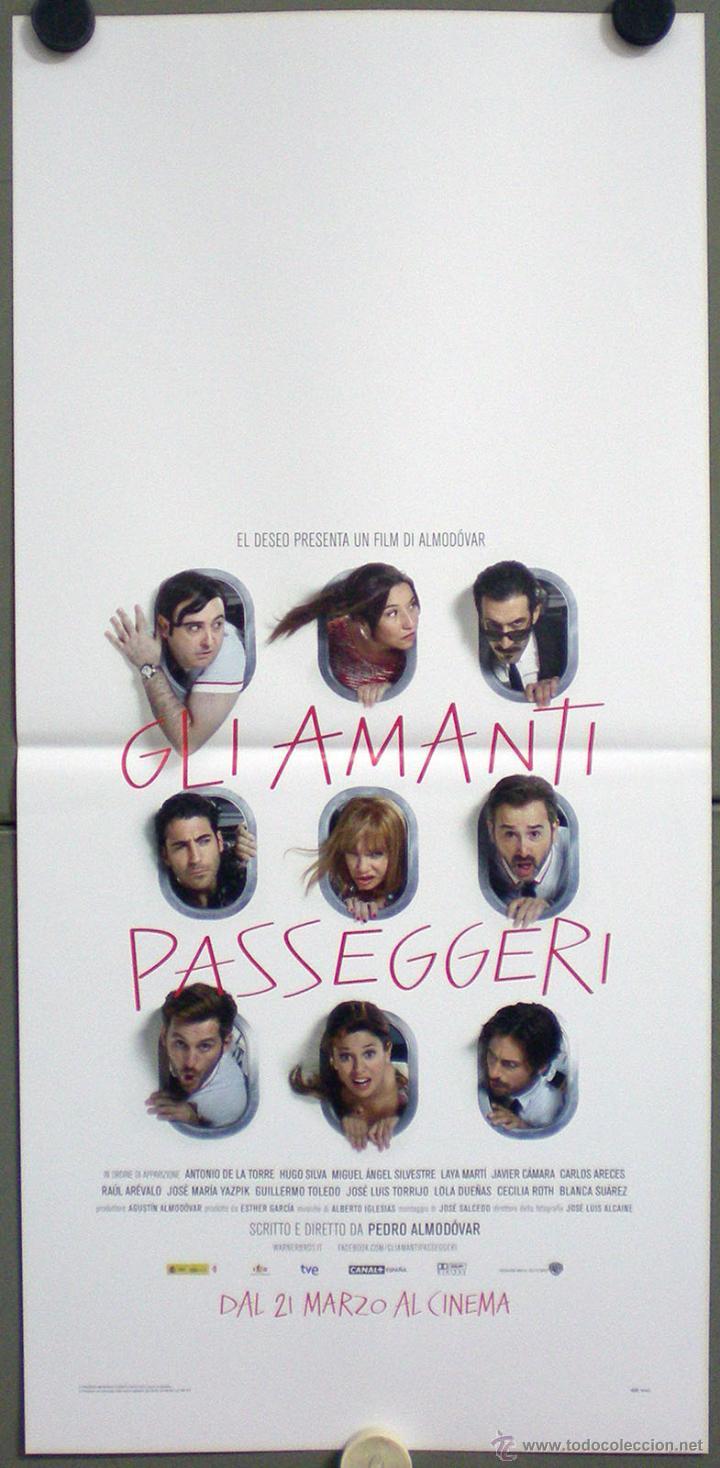 QL69 LOS AMANTES PASAJEROS PEDRO ALMODOVAR CARLOS ARECES POSTER ORIGINAL ITALIANO 33X70 (Cine - Posters y Carteles - Clasico Español)