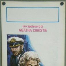 Cine: QL27 ASESINATO A BORDO MARGARET RUTHERFORD AGATHA CHRISTIE POSTER ORIGINAL ITALIANO 33X70. Lote 41496088