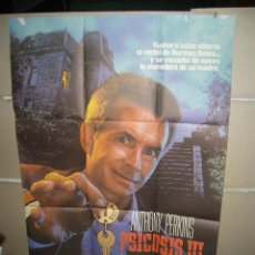 Cine: PSICOSIS III ANTHONY PERKINS POSTER ORIGINAL 70X100(536). Lote 41507106