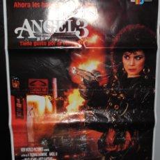 Cine: CARTEL DE CINE ORIGINAL DE LA PELÍCULA ANGEL 3,GUSTO POR LA VENGANZA, 70 POR 100CM. Lote 41507708