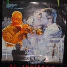 Cine: CARTEL DE CINE ORIGINAL DE LA PELÍCULA EL INVIERNO EN LISBOA, 70 POR 100CM. Lote 41508456