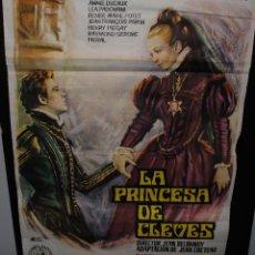Cine: CARTEL DE CINE ORIGINAL DE LA PELÍCULA LA PRINCESA DE CLEVES, 1964, 70 POR 100CM. Lote 41563778