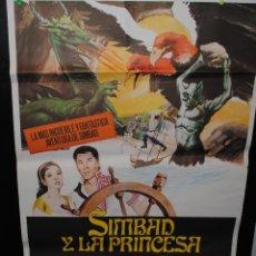 Cine: CARTEL DE CINE ORIGINAL DE LA PELÍCULA SIMBAD Y LA PRINCESA, 70 POR 100CM. Lote 94955911