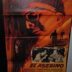 Cine: CARTEL DE CINE ORIGINAL DE LA PELÍCULA EL ASESINO, 1963, 70 POR 100CM. Lote 41569657