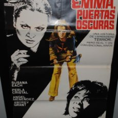 Cine: CARTEL DE CINE ORIGINAL DE LA PELÍCULA EMMA PUERTAS OSCURAS, JANO, 1974, 70 POR 100CM. Lote 41605340