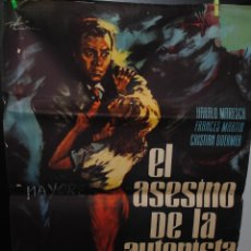 Cine: CARTEL DE CINE ORIGINAL DE LA PELÍCULA EL ASESINO DE LA AUTOPISTA, 70 POR 100CM. Lote 41605749