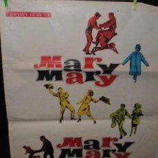 Cine: CARTEL DE CINE ORIGINAL DE LA PELÍCULA MARY MARY,MARY MARY, DEBBIE REYNOLDS, 70 POR 100CM. Lote 41605836