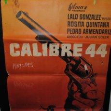 Cine: CARTEL DE CINE ORIGINAL DE LA PELÍCULA CALIBRE 44, 1962, 70 POR 100CM. Lote 41606072