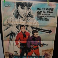 Cine: CARTEL DE CINE ORIGINAL DE LA PELÍCULA EL SHERIFF TERRIBLE, 70 POR 100CM. Lote 73625678