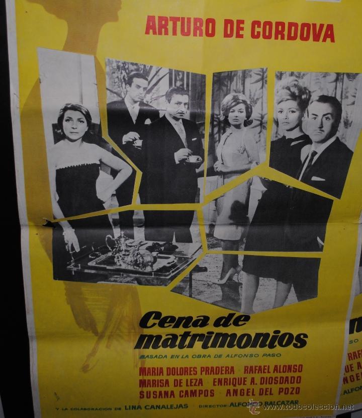 CARTEL DE CINE ORIGINAL DE LA PELÍCULA CENA DE MATRIMONIO, 70 POR 100CM (Cine - Posters y Carteles - Clasico Español)