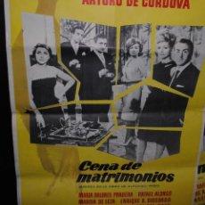 Cine: CARTEL DE CINE ORIGINAL DE LA PELÍCULA CENA DE MATRIMONIO, 70 POR 100CM. Lote 41607523