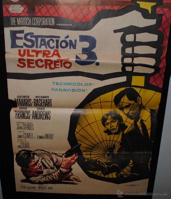 CARTEL DE CINE ORIGINAL DE LA PELÍCULA ESTACIÓN 3 ULTRA SECRETO, 1965, 70 POR 100CM (Cine - Posters y Carteles - Terror)