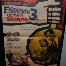 Cine: CARTEL DE CINE ORIGINAL DE LA PELÍCULA ESTACIÓN 3 ULTRA SECRETO, 1965, 70 POR 100CM. Lote 41638085