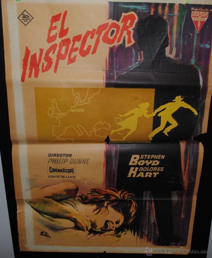 CARTEL DE CINE ORIGINAL DE LA PELÍCULA EL INSPECTOR, 1963, 70 POR 100CM (Cine - Posters y Carteles - Terror)