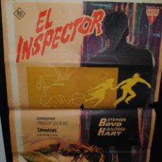 Cine: CARTEL DE CINE ORIGINAL DE LA PELÍCULA EL INSPECTOR, 1963, 70 POR 100CM. Lote 41638727