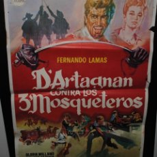 Cine: CARTEL DE CINE ORIGINAL DE LA PELÍCULA D´ARTAGNAN CONTRA LOS TRES MOSQUETEROS, 1966, 70 POR 100CM. Lote 41639484